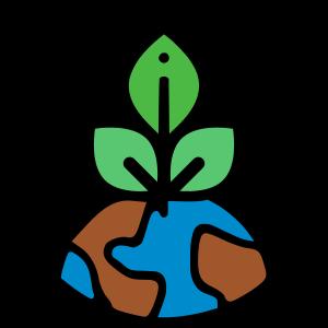 aardbol met planten